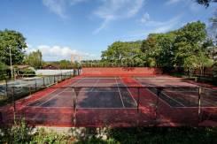 Продается участок 24 сотки с теннисным кортом в мкр Лесной. 2 400кв.м., собственность, электричество, вода. Фото участка