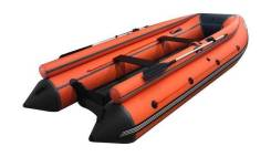 Лодка ПВХ ORCA 420F НДНД с фальшбортами, оранжевый/серый. 2020 год, длина 3,60м., двигатель без двигателя