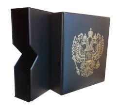 """Альбом """"Стандарт-ГЕРБ"""", в Шубере ! на 415 монет. черный"""