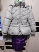 Продам зимнюю куртку с комбенизоном для девочки