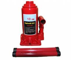 Домкрат гидравлический бутылочный 10Т (подъем 200/385мм) TBJ1001 InTop