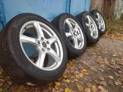 "Колёса Bridgestone на шинах Continental 225/50/17 без пробега по Росси. 7.0x17"" 5x114.30 ET48 ЦО 73,1мм."