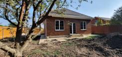 Новый одноэтажный кирпичный дом 82 м2 на участке 4 сотки за 3600 тр. Ейское шоссе, р-н Прикубанский, площадь дома 82,0кв.м., площадь участка 400кв....