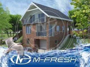 M-fresh Redisson (Проект привлекательного дома с цоколем. Взгляните! ). 200-300 кв. м., 3 этажа, 4 комнаты, бетон