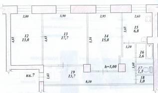 3-комнатная, проспект Ленина 34 кор. 2. Центральный, частное лицо, 71,0кв.м.