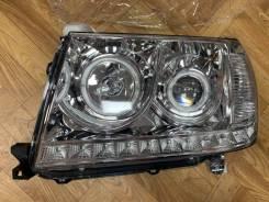 Фары диодные ангельские глазки для Toyota Land Cruiser 100 (2003-07г)