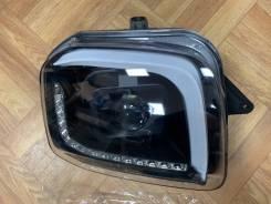 Фары диодные с линзой чёрные для Suzuki Jimny 07-15г