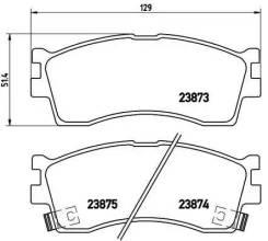 Колодки тормозные дисковые передн, kia: carens i 1 Brembo P30016 P30016