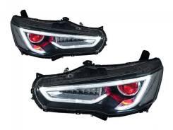 Mitsubishi Lancer X Фары тюнинг Demon eye