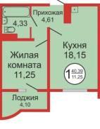 2-комнатная, улица Уральская 12. Ленинский, частное лицо, 41,0кв.м.