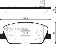 Колодки пер. Hyundai i30GD 1.4-1.6D 11- Sangsin Brake SP1403 SP1403