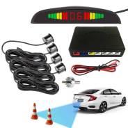 Парктроник с LED дисплеем, звуковой сигнал + 4 датчика, чёрный