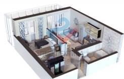 2-комнатная, переулок Фабричный 3. Индустриальный, агентство, 45,0кв.м.