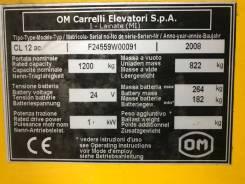 Linde. Продам электроштабелер ( электро- погрузчик) OM CL-12, 1 500кг., Электрический