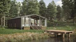 Модульный деревянный дом для круглогодичного проживания. от застройщика