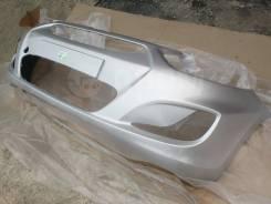 Новый передний бампер (серебристый / RHM) Hyundai Solaris 10-14г