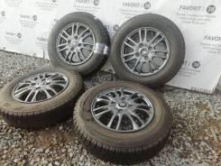 Фирменные литые диски Weds Velva на шинах Bridgestone 145/80R13