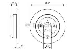 Тормозные диски Bosch 0986479081