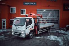 FAW Tiger V. Бортовой грузовик с КМУ UNIC URV 374, 4 087куб. см., 5 000кг., 4x2. Под заказ