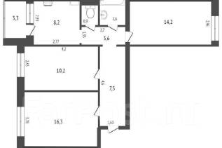 3-комнатная, улица Комсомольская 71 кор. 3. центральный, агентство, 64,3кв.м.