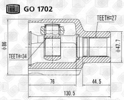 ШРУС внутр. для а/м SsangYong Kyron (05-) Trialli 'GO1702