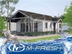 M-fresh Wooddi (Готовый проект небольшого уютного каркасного дома! ). до 100 кв. м., 1 этаж, 3 комнаты, каркас