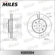 Диск тормозной Miles KIA RIO III 11-/Hyundai Solaris 10- передний K001254