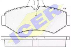 Колодки дисковые ! MB Sprinter 208D/308D, VW LT 28 2.8TDi 96 141289_ ICER [141289] 141289