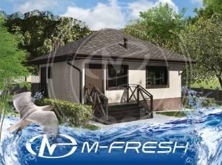 M-fresh Tom (Готовый проект деревянного каркасного дома. Рассмотрите! ). до 100 кв. м., 1 этаж, 3 комнаты, каркас