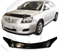 Дефлектор капота. Toyota Avensis, ZZT251, AZT251L, AZT250, ADT251, CDT250, ZZT250, AZT250L, ZZT251L, AZT255W, AZT251W, AZT251, AZT250W, AZT255 1ZZFE...
