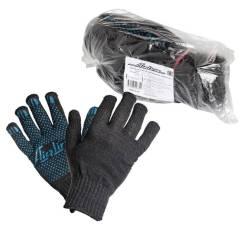 Перчатки ХБ с ПВХ покрытием, черные, (5 пар), 140Т/7,5 класс AIRLINE 'AWGC03