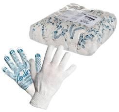 Перчатки ХБ с ПВХ покрытием, белые, (1 пара), 42гр., 150Т/7,5 класс AIRLINE 'AWGC02