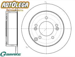 Диск тормозной з. G-brake Hyundai Sonata NF/Tucson MJ/KIA Sportage JE