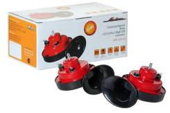 Сигнал звуковой рупорный 90мм 410/510Гц 118дБ 12В LOW/HIGH комплект Airline 'AHR12R02
