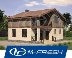 M-fresh Bruno (Готовый строительный проект компактного дома! ). 100-200 кв. м., 2 этажа, 4 комнаты, бетон