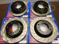Комплект тормозных дисков перфорированных перед+зад[4шт] Prado12/GX470 BR0137S