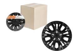Колпаки колесные 14 Лион, черный глянец, карбон, компл. 2 шт. AIRLINE 'AWCC1404