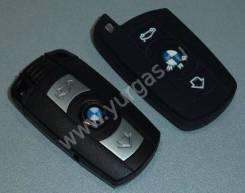 Чехол ключа зажигания BMW 2 кнопки силикон ,черный Тайвань