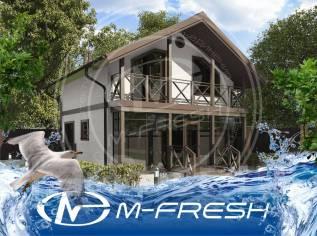 M-fresh Kokos (Строительный проект каркасного деревянного дома! ). 100-200 кв. м., 2 этажа, 4 комнаты, каркас