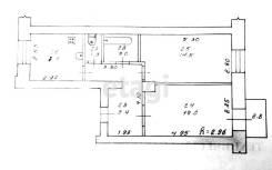 2-комнатная, улица Калинина 24. ЛО, агентство, 49,7кв.м.