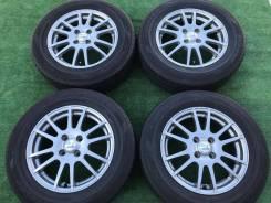 """Комплект колес Weds Ravrion 4*100 с летней резиной Dunlop! (1956). 6.0x15"""" 4x100.00 ET45"""