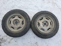 Две зимние шины Dunlop 165 SR 13 на кованых дисках Всмпо 4х98