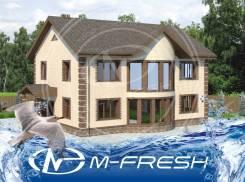 M-fresh Naslednik (Проект достаточно просторного дома с 8 комнатами! ). 300-400 кв. м., 2 этажа, 8 комнат, бетон