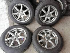 Отличные зимние шины Данлоп 165/70 R14 на литье 4/100