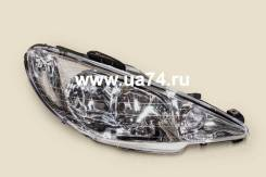 Фара (2х ламп. ) Peugeot 206 98-10 RH Правая (6205. S9 / 550-1121R-LD-EM / DEPO) 5501121RLDEM