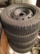 Колеса шипованные 185/60 R14 + диски Peugeot 4х108