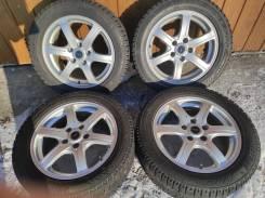 Комплект литых колес 205/55R-16 с , зимней резиной Bridgestone