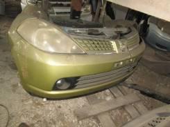Бампер передний на Nissan Tiida C11 HR15