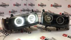 Фары Toyota Land Cruiser (80) 1990-1997 год комплект LED темные.