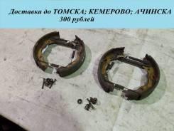 Система фиксации задних колодок с колодками в сборе правая Hyundai Elantra [W3-4042]